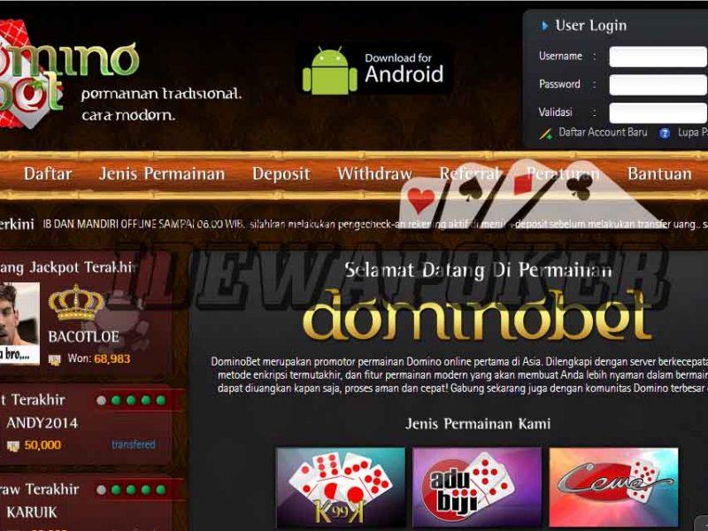 Situs Dominobet Memberikan Kesan Seperti Main Game Biasa