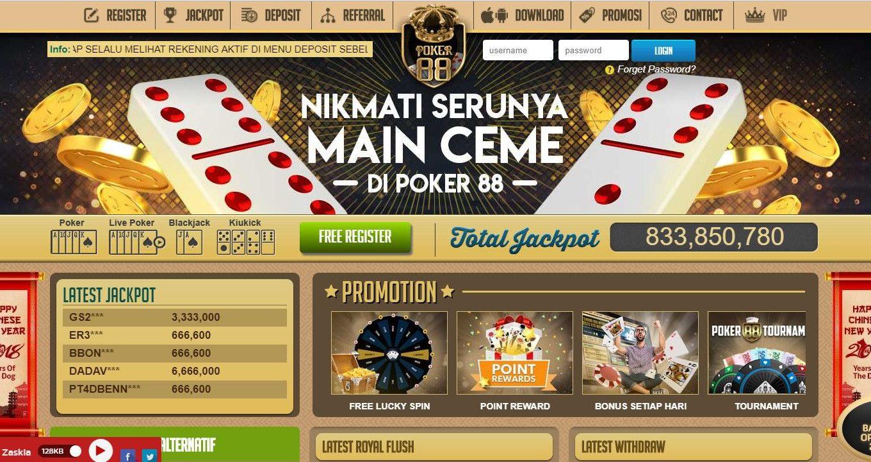 Situs Poker88 Online Terpercaya dan Terlengkap